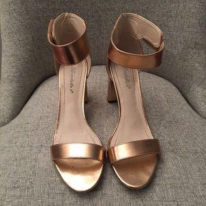 Rose Gold Block Heel